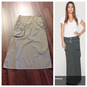 Johnny Was Dresses & Skirts - Johnny Was khaki cargo style long skirt