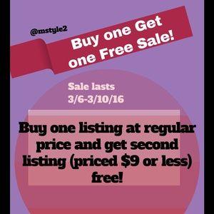 Other - ‼️BOGO 2 For 1 Sale- ends 3/10‼️