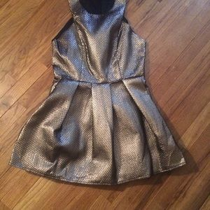 Bronze metallic dress