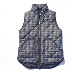 reasonable offer ok J crew gingham excursion vest