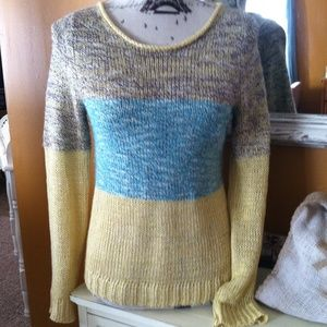 Anthropologie Multi Colored Knit Sweater Small
