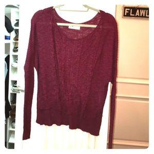 Hollister Maroon Light Sweater