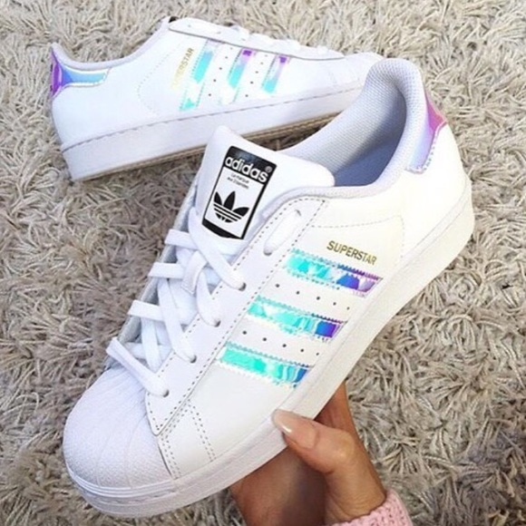 adidas shoes new holographic superstar poshmark
