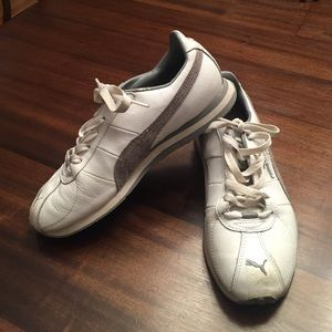 Puma Shoes - White PUMA why sneakers w gray suede 7.5