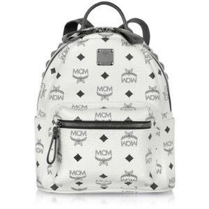 MCM Handbags - White studded mini MCM backpack