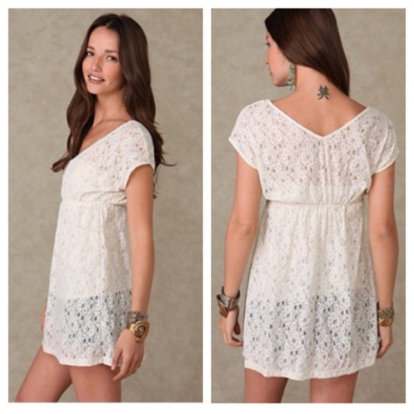 962d27336ba Free People Other - Free People white lace swim suit cover up