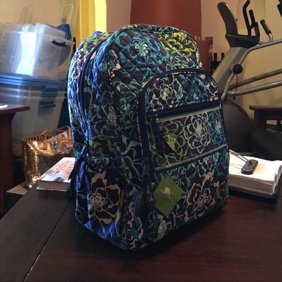 96acb898b Vera Bradley Bags | Nwt Campus Backpack In Katalina Blues 2 | Poshmark