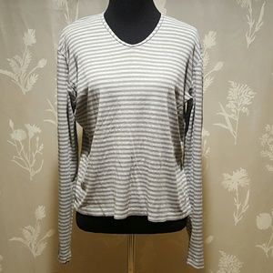 FINAL! J Crew grey striped shirt