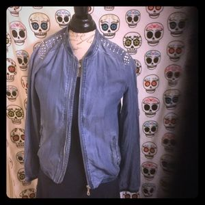 Bonage Jackets & Blazers - Custom unique boutique biker jacket bling NWT