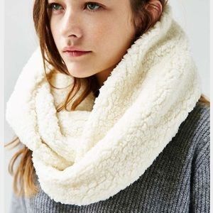 Urban Outfitters Accessories - Cozy Infinity Cream Scarf