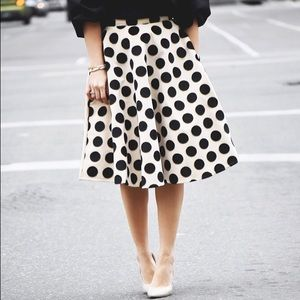 Polka dot midi skirt.