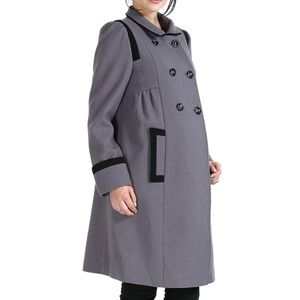 Momo Maternity Jackets & Blazers - Momo maternity gray 'Madison' pea coat
