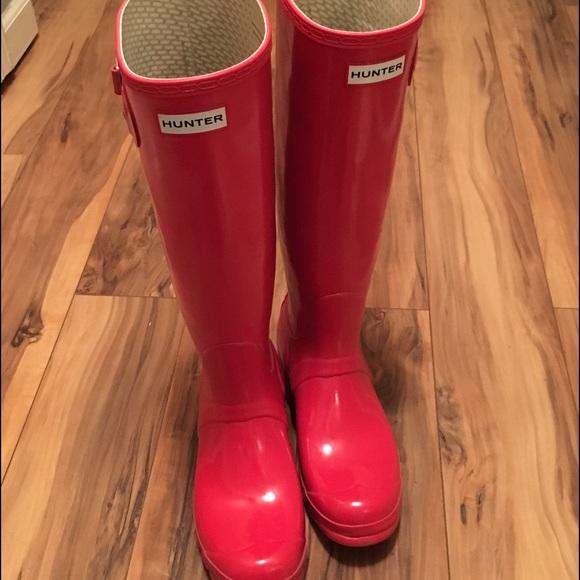 Hunter Women's Original Tall Gloss Rain Boots Genuine Online 2nm6jizyxC