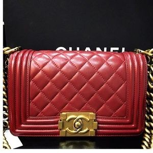 Chanel le boy handbag