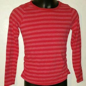 Girls Hanes Long Sleeve Top, Red Medium (8)
