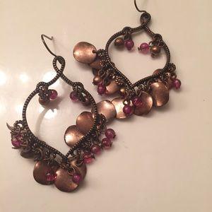 Jewelry - Bronze dangly Earrings