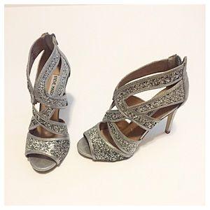 Steve Madden Immence Silver Platform sandals