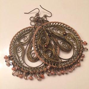 Jewelry - Large medallion like earrings