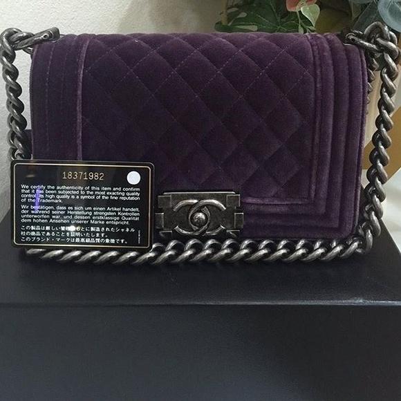 979bdb6571f48f CHANEL Handbags - Chanel velvet boy bag