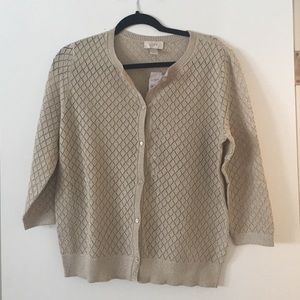 Loft soft cream cardigan with a touch of sparkle