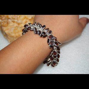 "✂️Shimmy Mini Chalcedony Statement Bracelet 8"""
