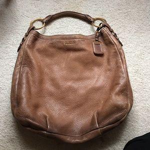white prada handbag - 76% off Prada Handbags - ??Prada Antik Cervo Light Honey / Cognac ...