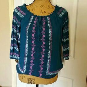 Bohemian polyester blouse