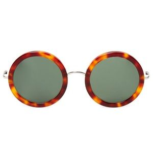 The Row Accessories - NEW! Linda Farrow x The Row Sunglasses-Auburn Tort
