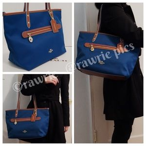 CLEARANCE New Coach fabric zip top shoulder tote