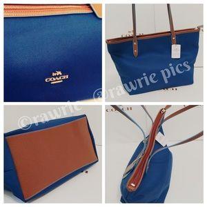 Coach Bags - CLEARANCE New Coach fabric zip top shoulder tote 4509faf654c1c