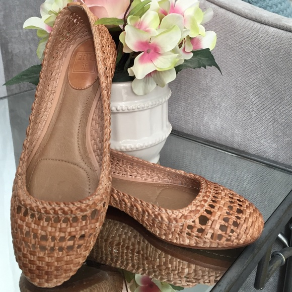 bc3c25c23 Frye Shoes | Emma Woven Ballet Flats Leather Spring Shoe 7 | Poshmark