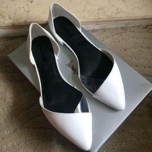 Zara white D'orsay flats