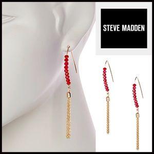 Steven by Steve Madden Jewelry - STEVE MADDEN EARRINGS Beaded Jeweled Tassel