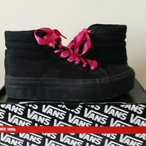 e3f5176f35 Vans Ribbon Lace Up Sk8 Hi Platform Sneakers. M 56cf55f1eaf0307a64006cf2