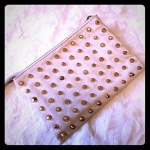 Zara gold studded clutch.