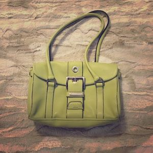 small lime green prada purse