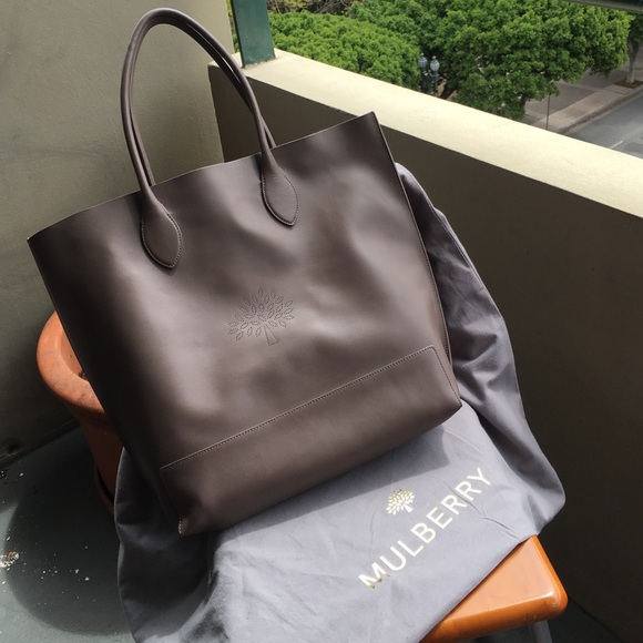 b1814d6b1851 Mulberry Blossom tote in taupe nappa calf leather.  M 5709695f5a49d0511e00bb98