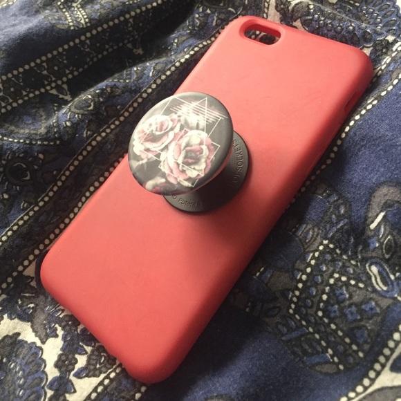 Popsocket 🚫sold On Ⓜ️erc🚫 Pink Iphone 6 6s Case