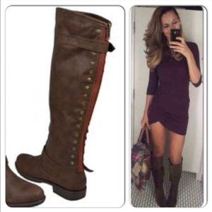 Mossimo Supply Kayce Equestrian Boots Cognac 8