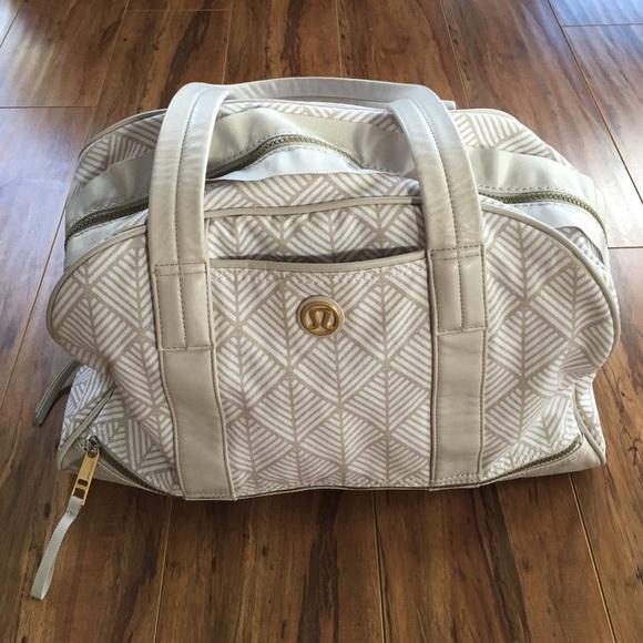 0c69bec572d lululemon athletica Handbags - {lululemon} Om for all bag ~ White w/tan