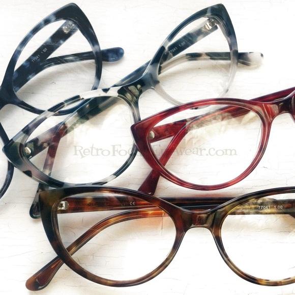 f2a113ae672 NEW Reading Glasses Eyeglass Frames Cat Eye 4 Col