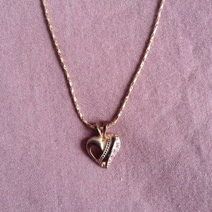 Jewelry - Bronze Heart Necklace Simple Elegant Spring Ring