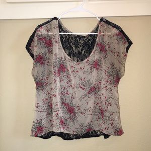 Soprano Tops - Floral Lace Blouse