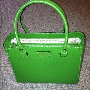 Kate spade emerald green Wellesley satchel purse