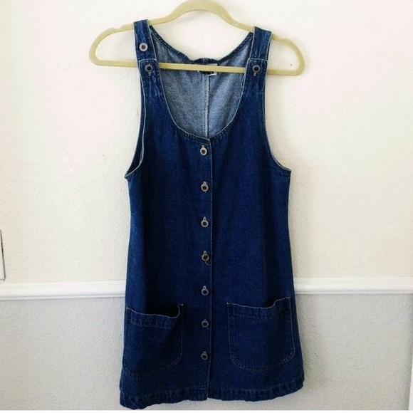 8d6e8048b7 Dresses   Skirts - Vintage Denim Jumper Overall Dress