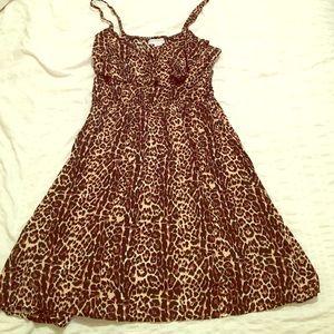 Cute skater flare cheetah dress