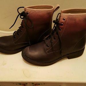Lucky brand black combat boots