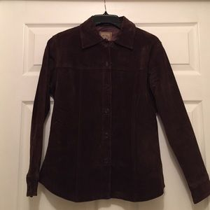 AMI Jackets & Blazers - Chocolate brown suede shirt/jacket