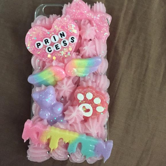 wholesale dealer eaabd a8db3 Handmade Kawaii Decoden iPhone 6/6s Case