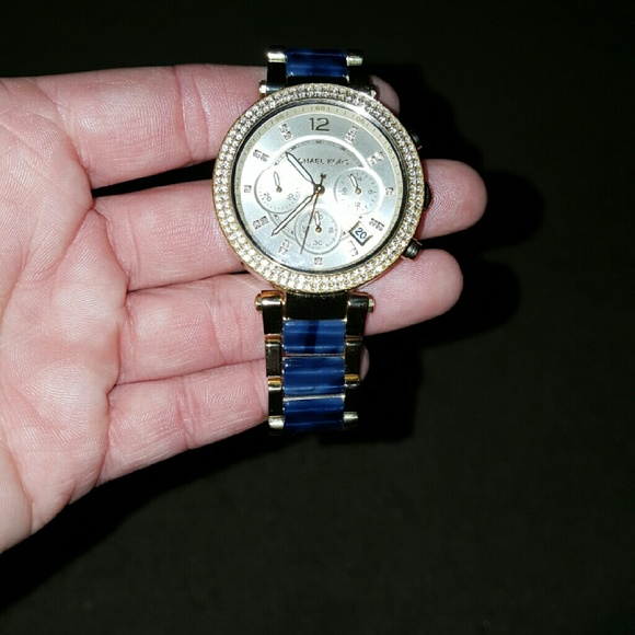 21db03637418e Women s MK6238 Parker Blue Watch. M 56cfa3fc4127d069a7002faf. Other  Accessories you may like. Michael Kors Watch